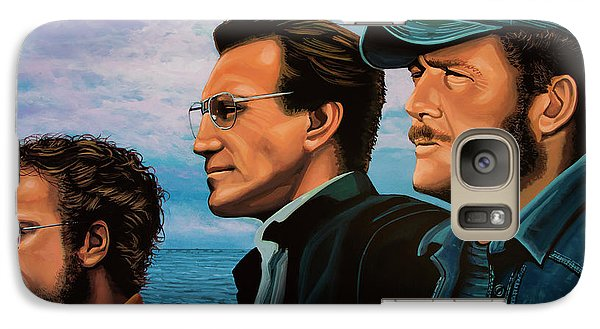 Sharks Galaxy S7 Case - Jaws With Richard Dreyfuss, Roy Scheider And Robert Shaw by Paul Meijering