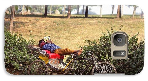 Rickshaw Rider Relaxing Galaxy S7 Case