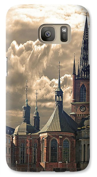 Galaxy Case featuring the photograph Riddarholm Church - Stockholm by Jeff Burgess