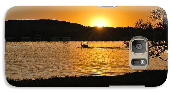 Galaxy Case featuring the photograph Ride Into The Sunset by Teresa Blanton