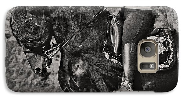 Galaxy Case featuring the photograph Rider And Steed Dance D6032 by Wes and Dotty Weber