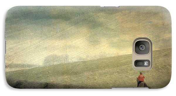 Galaxy Case featuring the photograph Rider In The Storm by LemonArt Photography