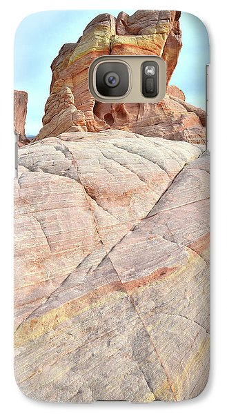 Galaxy Case featuring the photograph Riding The Wave In Valley Of Fire by Ray Mathis