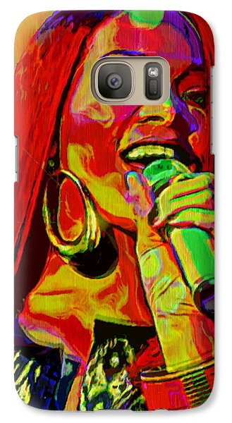 Rihanna 2 Galaxy Case by  Fli Art