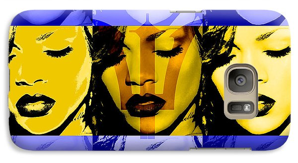 Rihanna Warhol Barbados By Gbs Galaxy Case by Anibal Diaz