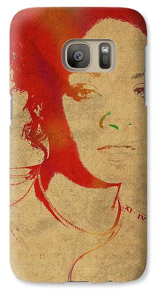 Rihanna Watercolor Portrait Galaxy S7 Case by Design Turnpike
