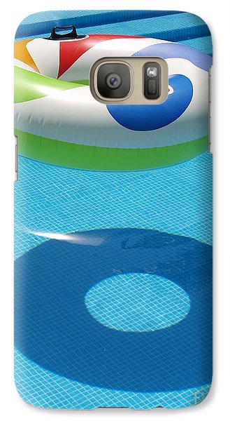 Galaxy Case featuring the photograph Ring In A Swimming Pool by Michael Canning