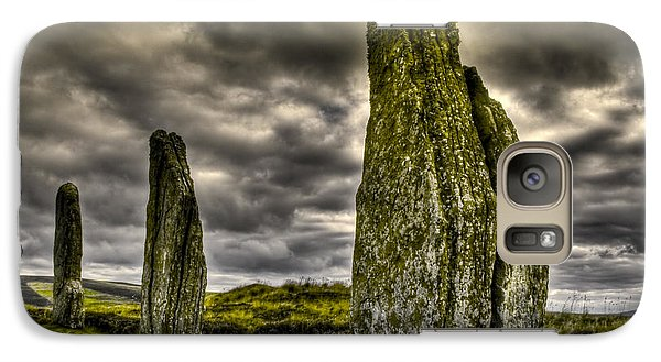 Galaxy Case featuring the photograph Ring Of Brodgar Orkney by Gabor Pozsgai
