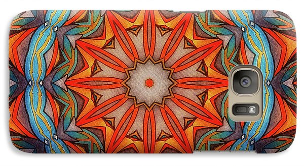 Galaxy Case featuring the drawing Ring Of Fire by Mo T