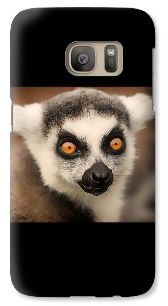 Galaxy Case featuring the photograph Ring Tailed Lemur Portrait by Chris Boulton