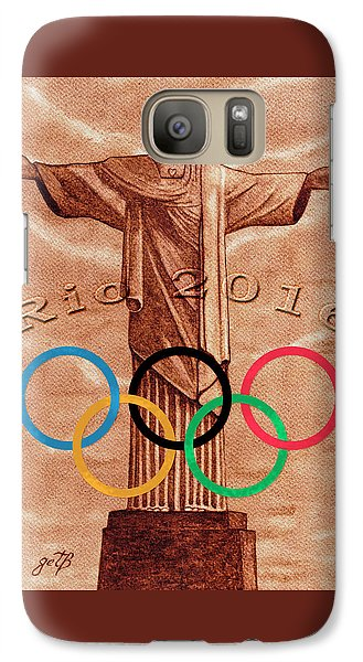 Galaxy Case featuring the painting Rio 2016 Christ The Redeemer Statue Artwork by Georgeta Blanaru