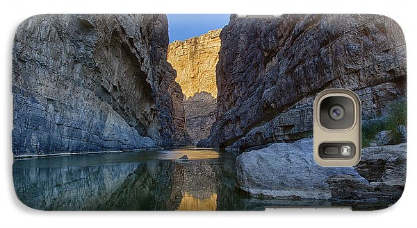 Galaxy Case featuring the tapestry - textile Rio Grand - Big Bend by Kathy Adams Clark