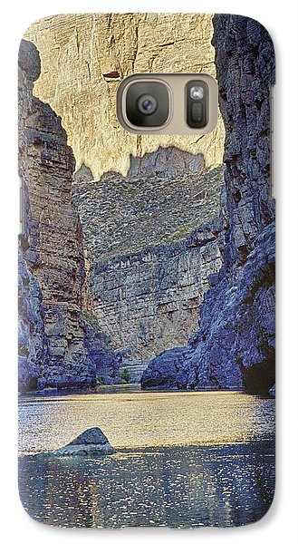 Galaxy Case featuring the tapestry - textile Rio Grand, Santa Elena Canyon Texas 2 by Kathy Adams Clark