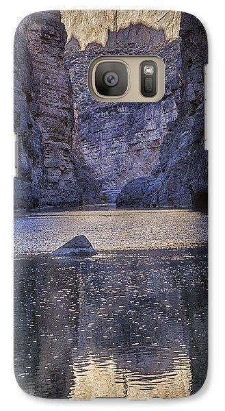 Galaxy Case featuring the tapestry - textile Rio Grand, Santa Elena Canyon Texas by Kathy Adams Clark