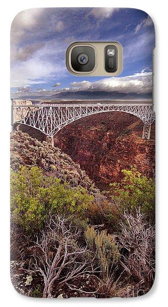 Galaxy Case featuring the photograph Rio Grande Gorge Bridge by Jill Battaglia
