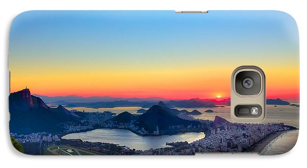 Galaxy Case featuring the photograph Rio Sunrise by Kim Wilson