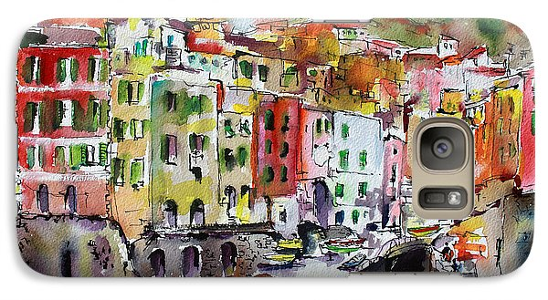 Galaxy Case featuring the painting Riomaggiore Cinque Terre by Ginette Callaway