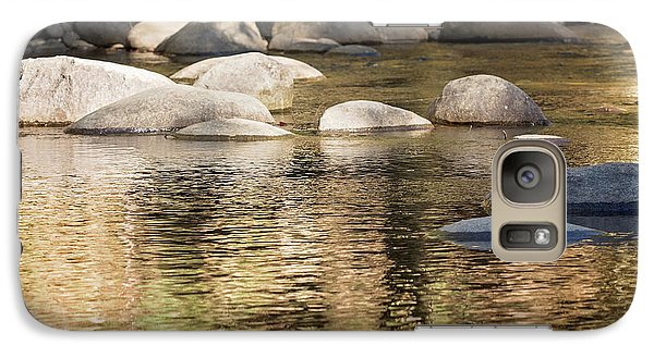 Galaxy Case featuring the photograph Ripples And Rocks by Linda Lees