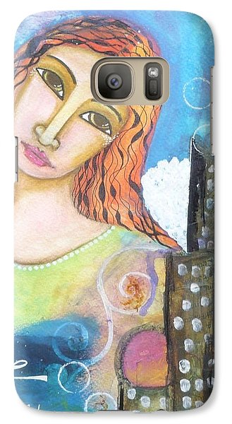 Galaxy Case featuring the painting Rise Above Because You Are An Angel by Prerna Poojara