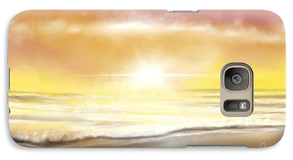 Galaxy Case featuring the painting Rise And Shine by Dawn Harrell