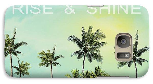 Rise And  Shine Galaxy Case by Mark Ashkenazi