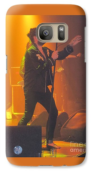 Galaxy Case featuring the photograph Rival Sons Jay Buchanan by Jeepee Aero