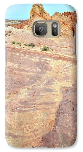 Galaxy Case featuring the photograph River Of Color In Valley Of Fire by Ray Mathis
