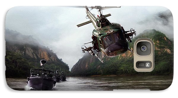 Helicopter Galaxy S7 Case - River Patrol by Peter Chilelli