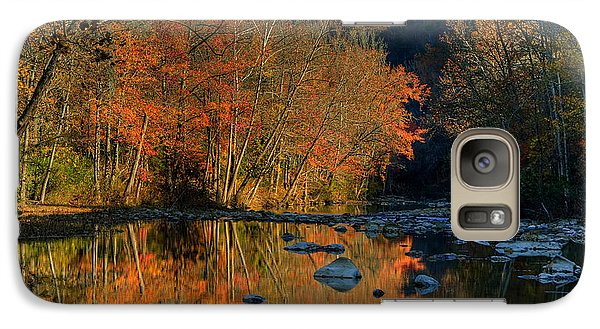 Galaxy Case featuring the photograph River Reflection Buffalo National River At Ponca by Michael Dougherty