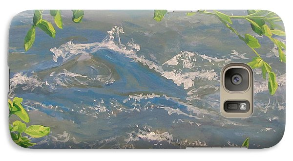 Galaxy Case featuring the painting River Spring by Karen Ilari