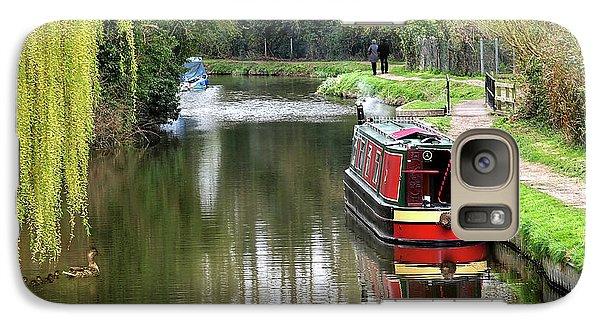 Galaxy Case featuring the photograph River Stort In April by Gill Billington