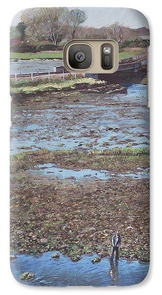 Galaxy Case featuring the painting River Test At Totton Southampton by Martin Davey
