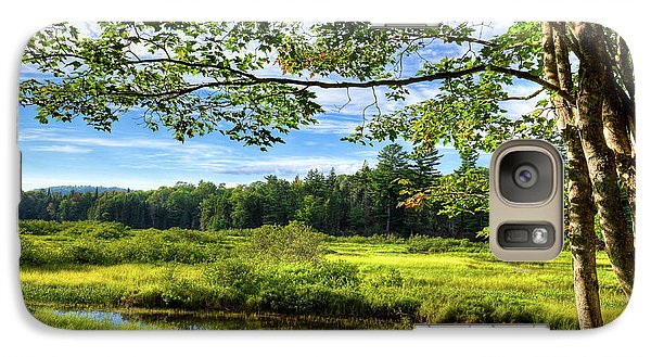 Galaxy Case featuring the photograph River Under The Maple Tree by David Patterson