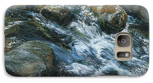 Galaxy Case featuring the painting River Water by Nadi Spencer
