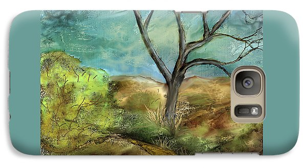 Galaxy Case featuring the painting Riverbed  by Annette Berglund