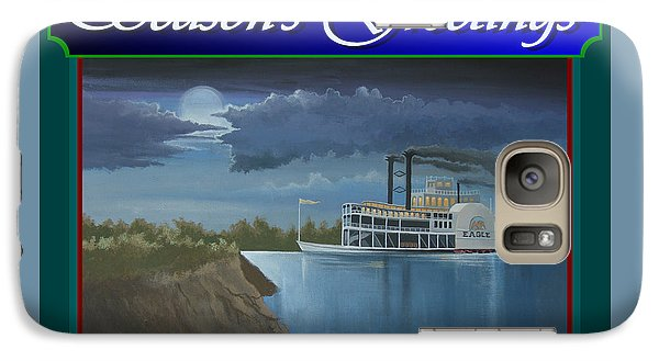 Galaxy Case featuring the painting Riverboat Season's Greetings by Stuart Swartz