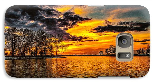 Galaxy Case featuring the photograph Riverview Beach Park Sunset by Nick Zelinsky