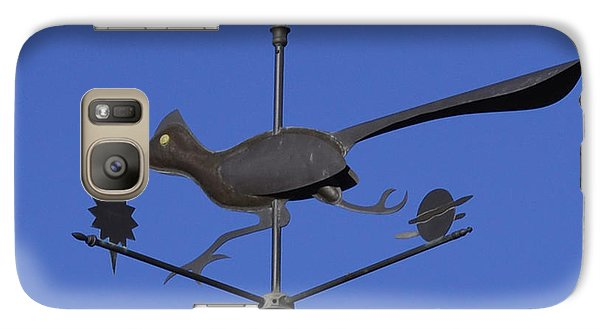 Galaxy Case featuring the photograph Road Runner Weather Vane by Joan Hartenstein