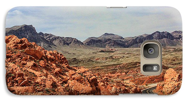 Galaxy Case featuring the photograph Road To Fire by Tammy Espino