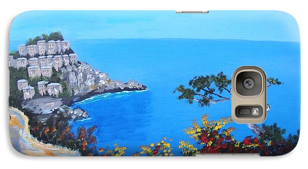 Galaxy Case featuring the painting Road To Monaco by Larry Cirigliano