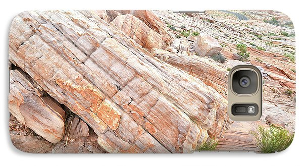 Galaxy Case featuring the photograph Roadside Sandstone In Valley Of Fire by Ray Mathis