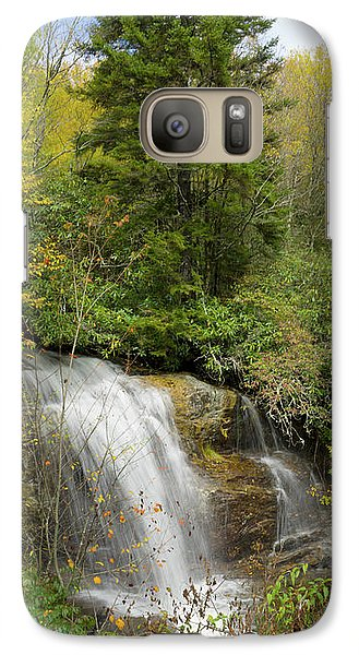 Galaxy Case featuring the photograph Roadside Waterfall In North Carolina by Mike McGlothlen