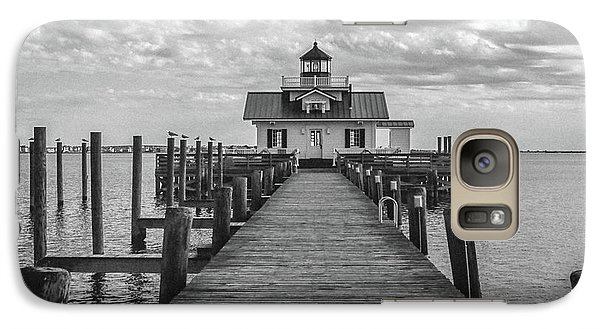 Galaxy Case featuring the photograph Roanoke Marshes Light by David Sutton