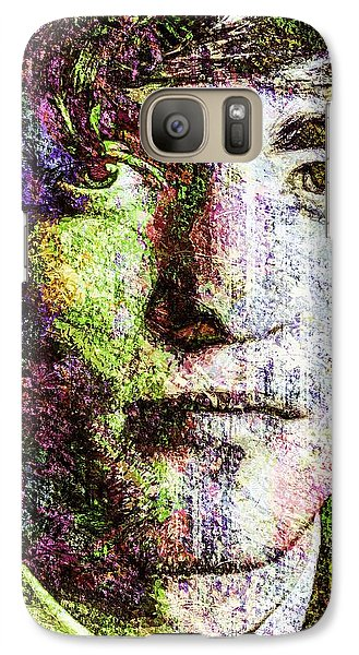 Galaxy Case featuring the mixed media Robert Pattinson by Svelby Art