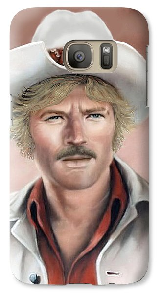 Galaxy Case featuring the painting Robert Redford by Loxi Sibley