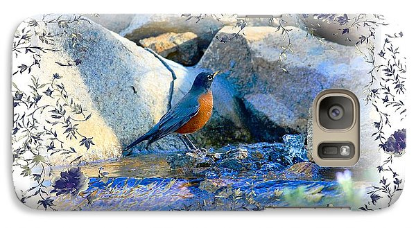 Galaxy Case featuring the photograph Robin by Athala Carole Bruckner