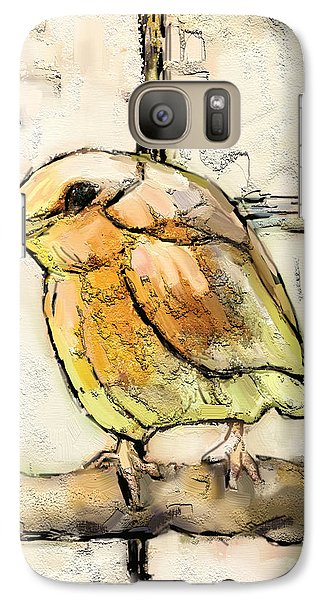 Galaxy Case featuring the mixed media Robin Collage by Carrie Joy Byrnes