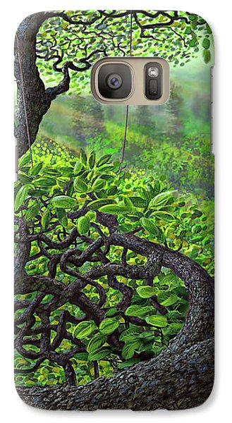 Galaxy Case featuring the painting Robin Hood by Dave Luebbert