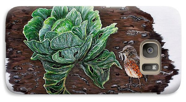 Galaxy Case featuring the painting Robin In The Gardin by Judy Kirouac
