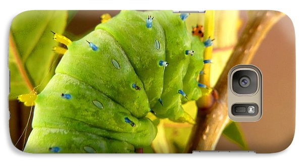 Galaxy S7 Case featuring the photograph Robin Moth Caterpillar by Claire Bull